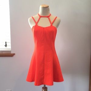 Sexy strappy fit & flair dress!